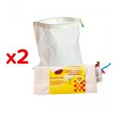 Pack Bolsa Frutas y Verdura 30x33cm Ecodis 10 uds