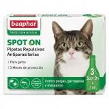 Pipetas repulsivas antiparasitas naturais para gatos
