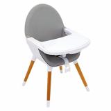 Cadeira de alimentação de madeira  cinza claro Olmitos