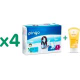 Pack Pañales Pingo T1 (recién nacido) 108 unidades + REGALO Mini Champú y Gel de ducha de caléndula Weleda, 20 ml
