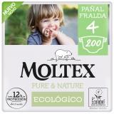 Pack Poupança Fraldas Moltex Pure & Nature T4 (9-15 kg) 200 uds
