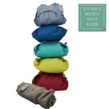 Pack x5 pañales de tela de bambú colores vivos Close Parent