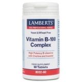 Complejo de Vitamina B-100 Lamberts, 60 tabletas