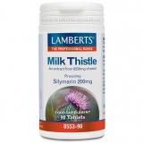 Cardo Mariano 8500 mg Lamberts, 90 tabletas