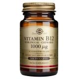 Vitamina B12 1000 μg  Solgar, 100 comprimidos masticables