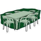 Funda rectangular cubre mesas y sillas de polietileno
