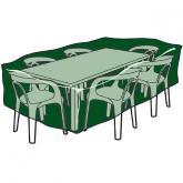 Funda rectangular  cubre mesas y sillas de poliéster