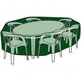 Funda circular cubre mesas y sillas de poliéster
