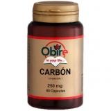 Carvão Vegetal 250 mg Obire, 60 cápsulas