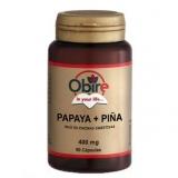 Papaya y Piña 400 mg Obire, 90 cápsulas