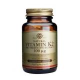 Vitamina K2 Menaquinona-7 100 μg Solgar, 50 Cápsulas vegetais