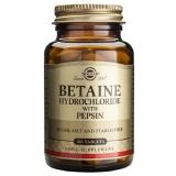 Solgar Betaine Cloridrato com pepsina 100 comprimidos