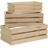 3 cajas de madera