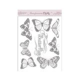 Transferência A5 borboletas grandes Dayka