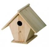 Casa para pájaros de madera 20x13x22cm