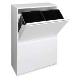 Balde reciclagem Basic Branco 4 compartimentos