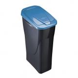 Balde de lixo Ecobin 25 L com tampa azul
