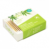 Cotonetes biodegradáveis de Bambu e algodão, Babu 100 unidades